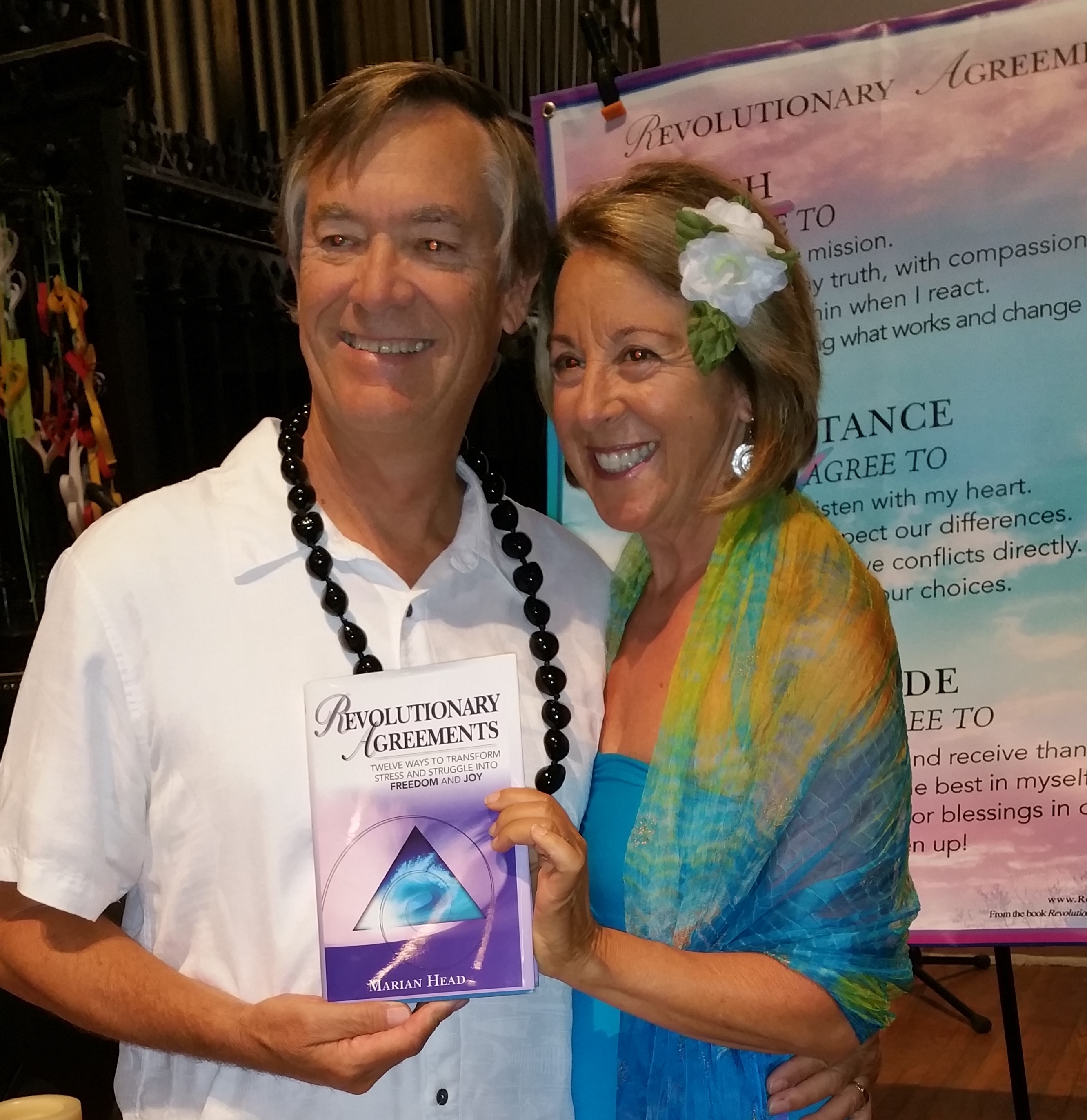 Marian & Glenn wrapping up keynote at international conference